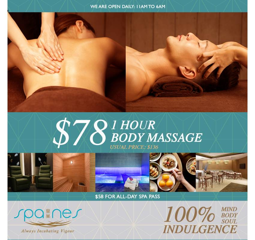 One hour body massager ($78)